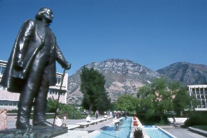 Brigham Young overlooking BYU