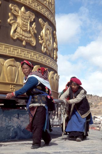 The Tibetans have great faith.