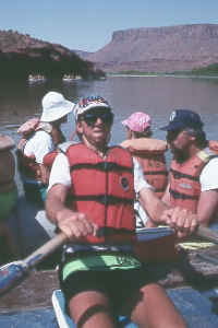 rafting the Colorado River above Moab