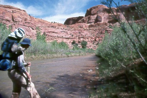 Colleen Huston in Escalante River Canyon