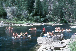 rafting and fishing on the Green River