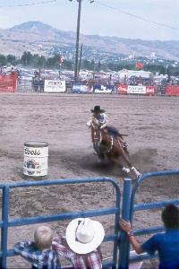 women's barrel racing at the Utah State Fair