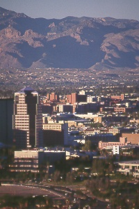 downtown Tucson and the University of Arizona