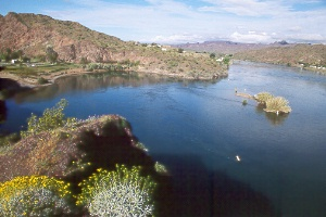 Buckskin Mtn. State Park (left) on the Colorado River