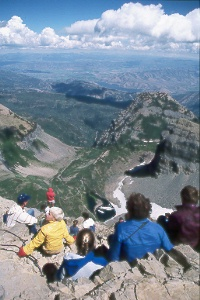 view to east from summit of Mt. Timpanogos